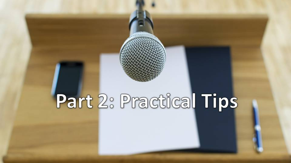 Preaching Workshop #2 - Practical Speaking Tips