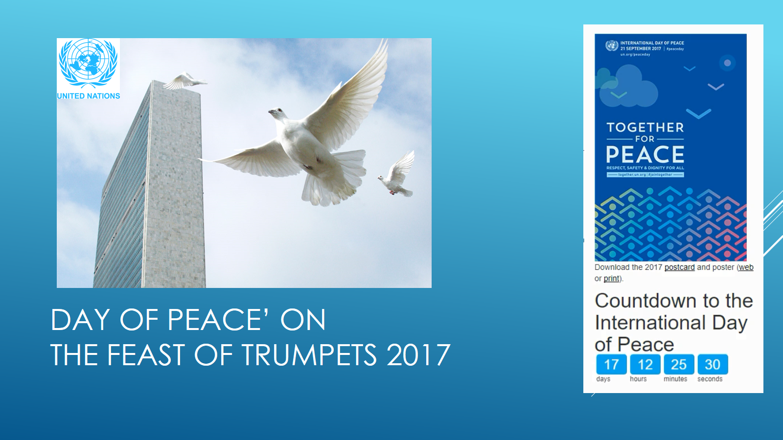The Feast of Trumpets vs the UN Day of Peace